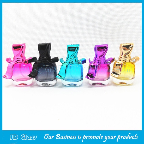 15ml Colored Perfume Glass Bottle With Bowknot Cap