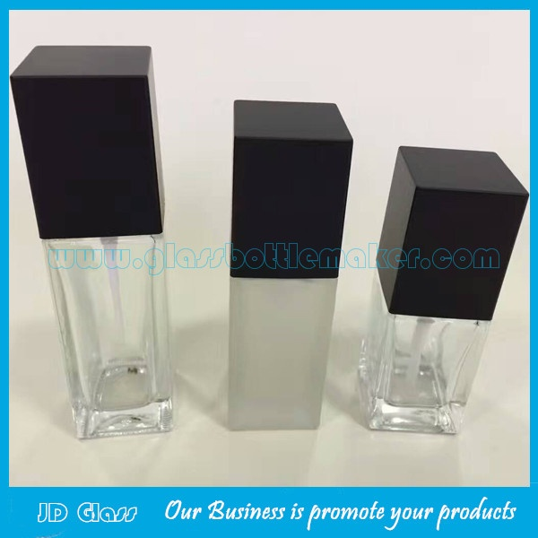 20ml,30ml,40ml Clear Square Glass Bottles For Liquid Foundation
