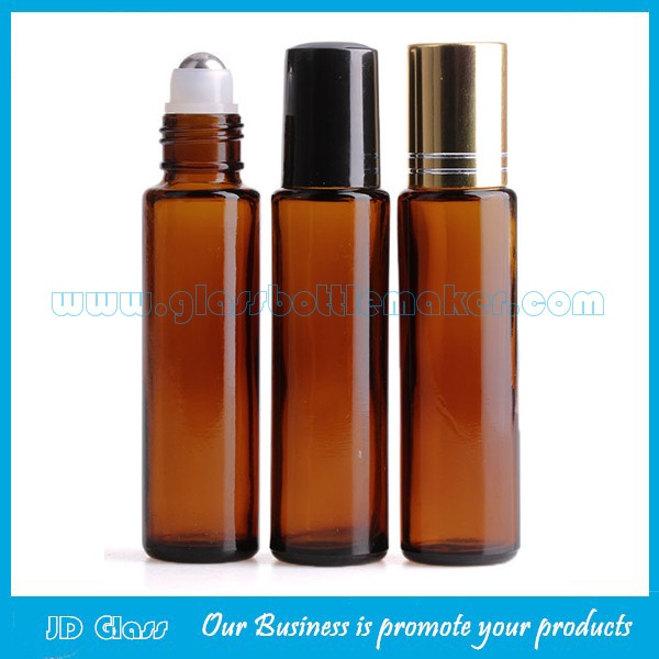15ml Amber Perfume Roll On Bottle With Cap and Roller