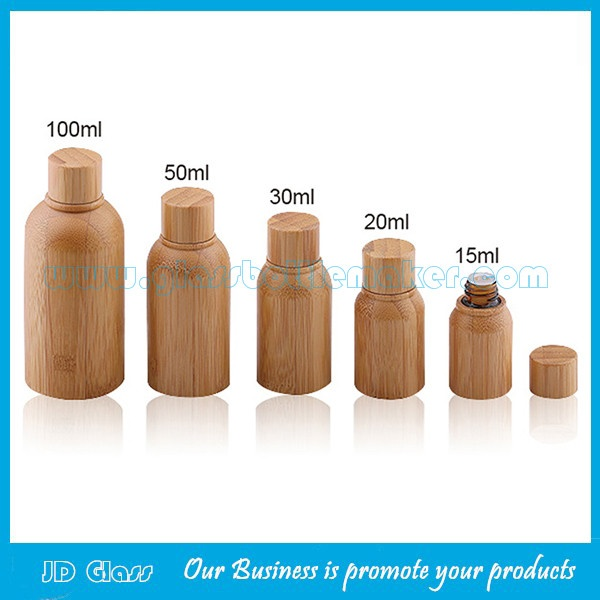 15ml,20ml,30ml,50ml,100ml Bamboo Essential Oil Bottles With Bamboo Caps