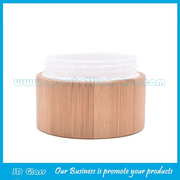 5g,15g,30g,50g,100g Bamboo Cosmetic Jars and Inner PP Jar With Bamboo Lids