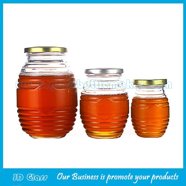 250g,500g and 1000g Glass Honey Jars With Lids