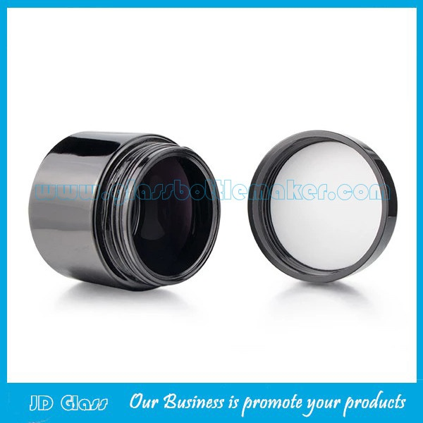 15g,30g,60g,120g,250g,500g Dark Violet Glass Cosmetic Jars With Screw Lids