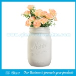 16oz White Color Painting Glass Mason Jar