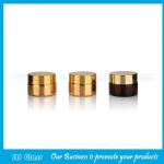 20g Round Gold Electroplating Glass Cosmetic Jar With Gold Lid