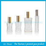 30ml,50ml,100ml Flat Empty Glass Perfume Bottle With Silver Cap and Sprayer