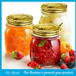 Transparent Glass Storage Jars For Food with Gold lids