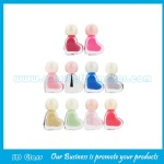 5ml Clear Heart Glass Nail Polish Bottle With Cap and Brush