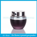 30g Black Lancome Glass Cosmetic Jar With Black Lid