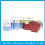 20g,30g,50g Colored Glass Cosmetic Jars With Double Wall Lids
