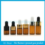 1ml,2ml,3ml Amber Round Glass Dropper Bottles