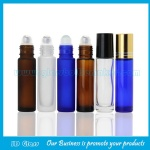 10ml Clear,Frost,Amber,Blue Round Perfume Roll On Bottles With Caps and Rollers