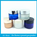 100g Colored Round Glass Cosmetic Jar With Lid