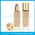 30ml Hot Selling Clear Round Glass Liquid Foundation Bottle With Cap and Pump