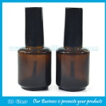 15ml Amber Round Glass Nail Polish Bottle With Cap and Brush