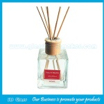 150ml Clear Aroma Diffuser Glass Bottle With Wood Cork And Rattan