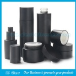 30ml-120ml High Grade Matte Black Painting Glasss Lotion Bottles With Pumps Caps and Glass Cosmetic Jars