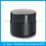 100g Matte Black Color Painting Round Glass Cosmetic Jar With Lid