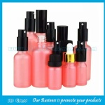 5ml-100ml Pink Essential Oil Glass Bottles With Pump or Dropper