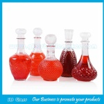 1000ml High Quality Clear Liquor Glass Bottle With Glass Cap