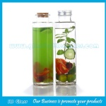 350ml Clear Hexagonal Glass Juice Bottles