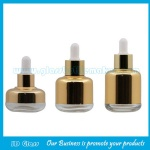 20ml,30ml,50ml Clear Glass Essence Bottles With Metal Droppers