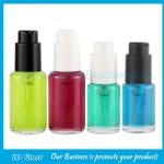 30ml,50ml Clear Round Glass Liquid Foundation Bottles With Cap and Pump