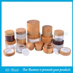 15g,20g,30g,50g,100g Eco Friendly Bamboo Cosmetic Jars and Bamboo Lids