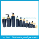 5ml-200ml Violet Optical Essential Oil Glass Bottles With Bamboo Pumps,Caps,Droppers