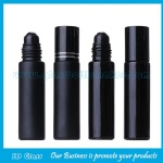 10ml Black Round Perfume Roll On Bottle With Black Cap and Roller