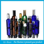 Clear,Amber,Blue and Green Essential Oil Glass Bottles