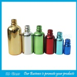 Metallic Gold,Silver Essential Oil Glass Bottles